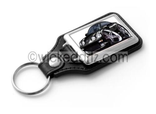 RetroArtz Cartoon Car Toyota Celica MK4 in Black Classic Key Ring