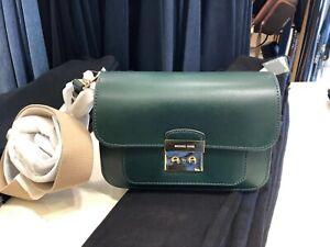 991b355d38fa MICHAEL KORS Sloan Editor Leather Shoulder Bag Color-racing Green | eBay
