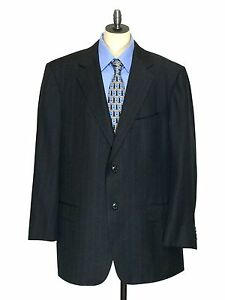 Ermenegildo-Zegna-Wool-Blazer-Switzerland-Pinstriped-Suit-Jacket-Mens-44-R-44R
