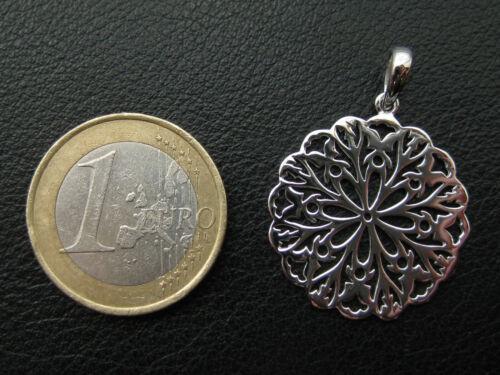 Flor de vida él 925 plata colgante rhodiniert flor de la vida//032