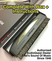Audioquest Anti-Static Carbon Fiber Record Cleaner LP Vinyl Cleaning Brush w/box