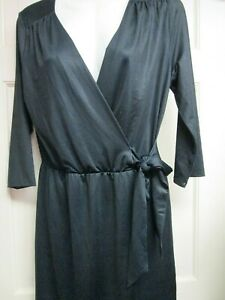 Black-Wrap-Style-Dress-by-Mud-Pie-Size-Small-4-6-New