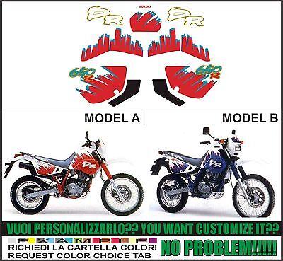 INDICARE IL MODELLO A o B Kit adesivi decal stikers SUZUKI DR 650 1990 DJEBEL