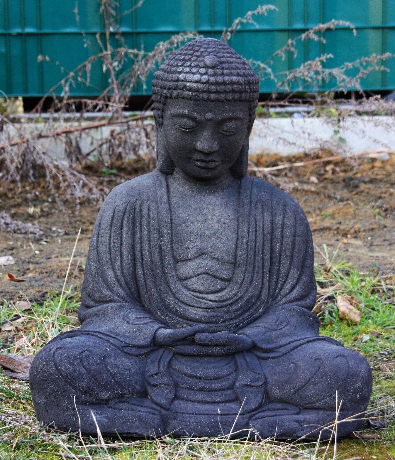 BUDDHA SKULPTUR STEINGUSS TEICH FROSTFEST FIGUR FIGUREN NEU BUDDHAS AFST-SB7-65S