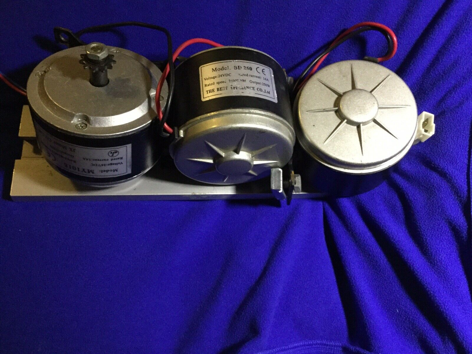 Elektromotor BD -250.24 VDC, 14A, 2500 RPM, 250W, Lot Of 3  Tested,used