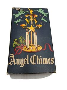 ANTIQUE-MID-CENTURY-MODERN-ANGEL-CHIMES-XMAS-CENTERPIECE-CANDLE-BOX-VTG-RETRO