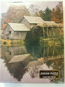 Springbok-by-Hallmark-New-Sealed-Jigsaw-Puzzle-Mirror-of-the-Past-Water-Wheel