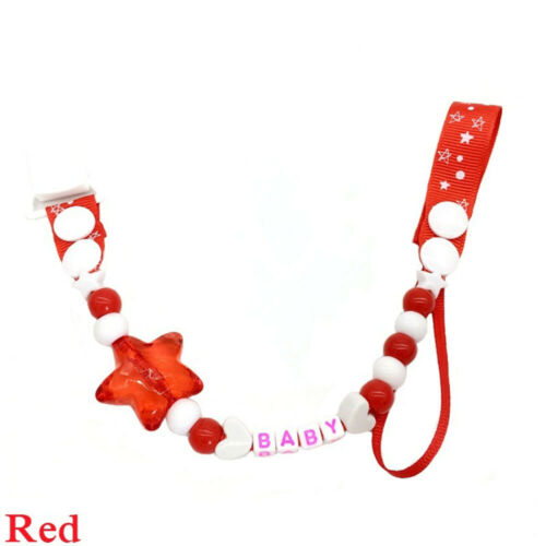 Infant Dummy Baby Teething Pacifier Chain Chew Toy Soother Clip Nipple Holder