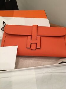 e88ff9d47747 Brand NIB - Hermes Pochette Jige Elan 29 - Clutch Bag Orange ...