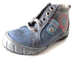 18419d6299cf3 BOTTINES 25 CHAUSSURES MONTANTES cuir bleu gris lacets BOPY bébé ...