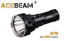 NUOVO Acebeam k70 CREE xhp35 Hi 2600 LUMEN Torcia LED (1300m) - Nero