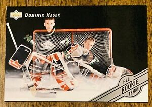 1992-93-BLACKHAWKS-Upper-Deck-All-Rookie-Team-AR6-Dominik-Hasek-MT