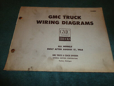 1965 (CHEVROLET?) GMC TRUCK SHOP MANUAL WIRING DIAGRAMS ...
