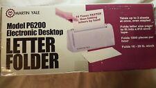 Martin Yale P6200 Desktop Folder Automatic Hand Fed Machine Folds 1 3 Sheets