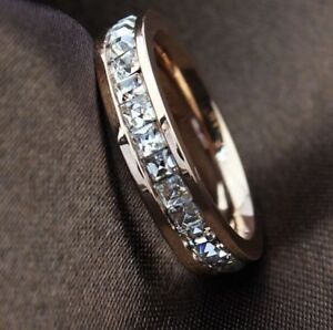 Valentine-039-s-Day-Genuine-Rose-Gold-9-ct-simulated-diamond-Ring-size-8