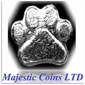 1-oz-999-Fine-Silver-Cast-Yeager-039-s-Poured-Bar-Bear-Paw