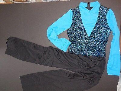 NWT Boys XL Child Tap Jumpsuit Looks like 3 pcs, zipperback Sequin front