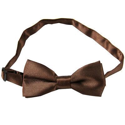 Coffee Boy Children Child kids Solid Bow tie Pre tied Wedding Party Bow Tie BC15