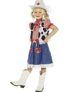 GIRLS COWGIRL KIDS DAISY DUKE FANCY DRESS COSTUME ...
