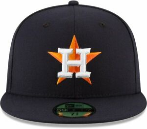 8f0bb85f4aa HOUSTON ASTROS New Era MLB 2018 Post Season Patch 59Fifty Fitted Hat ...
