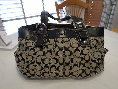 COACH Signature XL black Jacquard Business Tote Handbag F13743 XL purse laptop