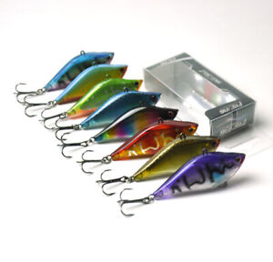 8Pcs-New-65mm-Bass-Trout-Fishing-Hard-Lures-Vibration-VIB-Lipless-Hook-Tackle