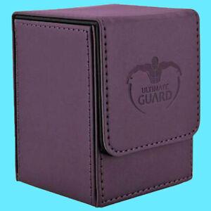 ULTIMATE-GUARD-LEATHERETTE-FLIP-100-PURPLE-DECK-CASE-Standard-Size-Card-Box-ccg