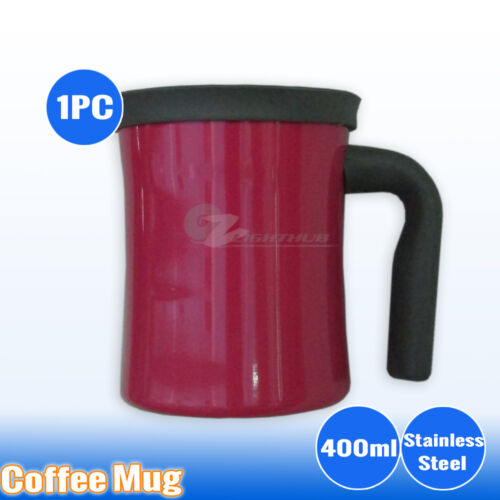 Stainless Steel Coffee Mug Cup Insulated Double Wall Camping Office Water Bottle