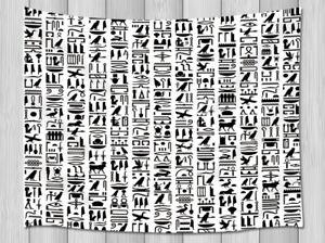 Egyptian hieroglyphs Tapestry Wall Hanging for Living Room Bedroom Dorm Decor