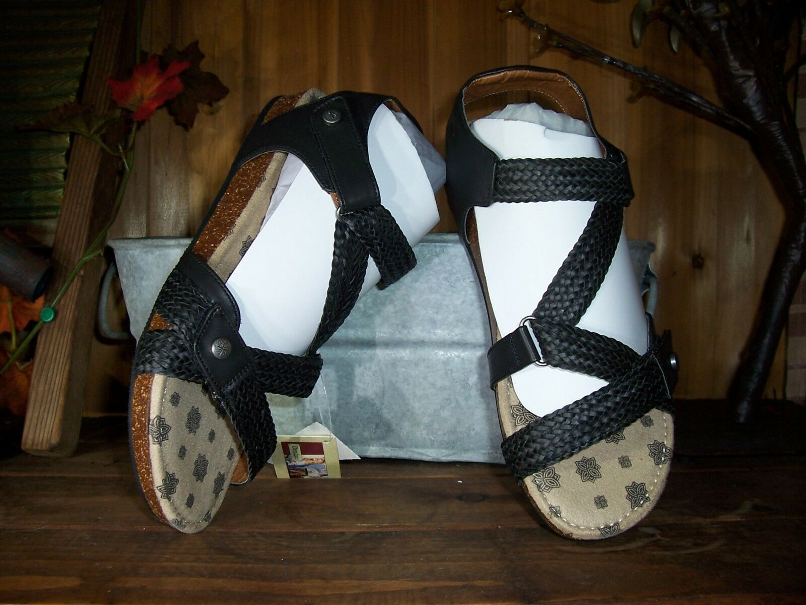 DREXLITE LADIES SANDALS SHOES SIZE 9 BLACK CASUAL SUMMER SHOES VACATION BEACH