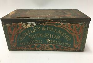 VTG-Huntley-amp-Palmers-Breakfast-Superior-Reading-Biscuits-London-Tin-1878-amp-1900