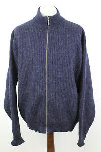LL Bean Marineblau Reißverschluss Pullover Größe XL