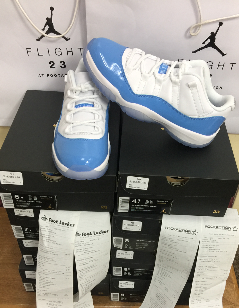 Nike Air Bleu Jordan XI Retro 11 Low University Bleu Air Columbia 528895-106 AUTHENTIC 29c03e