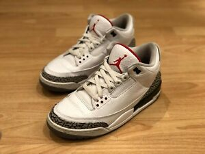 low priced 42349 63be9 Details about Mens Jordan 3 White Cement Grey retro 2011 size 8.5 3 4 5 6 7  11 13 (can fit 9)