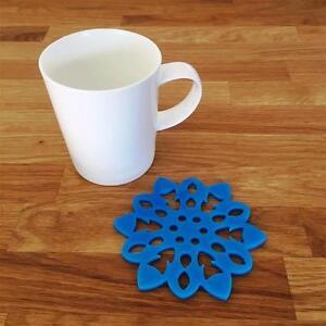 """Flocon De Neige En Forme De Bleu Clair Brillant Acrylique Coasters, Ensembles De 4, 6 Ou 8, 10 Cm 4""""-afficher Le Titre D'origine Facile à Lubrifier"""
