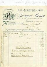 Dépt 18 - Bourges - Petite Entête de la Célèbre Distillerie G MONIN - 02/06/1921