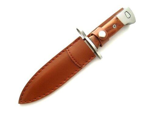1 Messer Outdoor Braun Fahrtenmesser Jagdmesser Hunting Angeln UdSSR AK47 Tasch