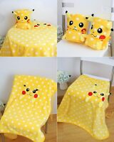 Soft Pokemon Go Cute Pikachu Flannel Blanket Nap Sleeping Blanket Baby Blanket