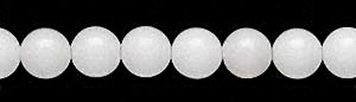 White Mountain Jade Gemstone Round Beads 6MM