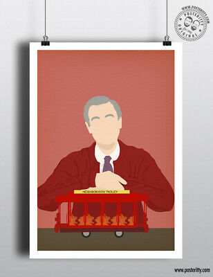 Mister Fred Rogers Neighborhood Minimalist Poster Wall Art Beautiful Day In Ebay