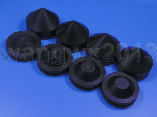 4PCS 43mm Ebony Wooden Speaker Spike Speaker Isolation Cone Stand Foot Base Pad
