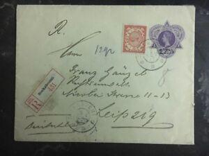 1911 Soekanoemi Niederlande Indies Registrierte zu Leipzig Deutschland