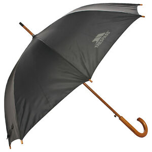 Trespass-Golf-Umbrella-Wooden-Handle-amp-Shaft-with-Button-Release-Opening
