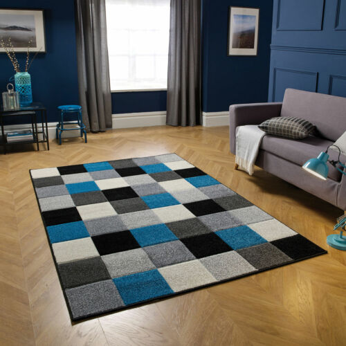LUXURY Living Room MODERN SOFT YELLOW BLUE COLOUR RUGS RUNNERS SALE LOW COST