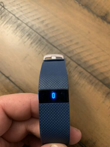 Fitbit Charge HR Wireless Activity Wristband Blue LARGE Refurbished W Charger