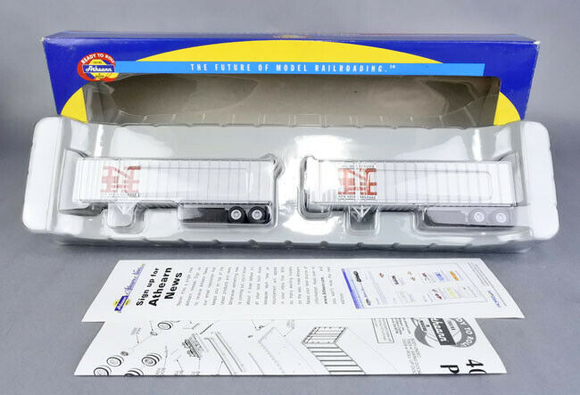ATHEARN HO SCALE 70976 NEW HAVEN 40-FT EXTERIOR-POST Z-VAN 2-PK
