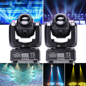 2PCS 60W RGBW Gobo Moving Head Light Spotlight-Beam LED Lamp DMX Disco Party KTV