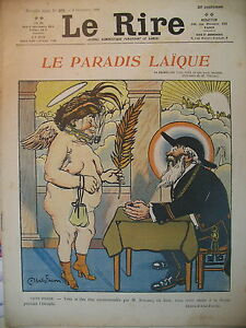 JOURNAL-LE-RIRE-N-201-LE-PARADIS-LAIQUE-DESSINS-ABEL-FAIVRE-GOUSSe-LEANDRE-1906