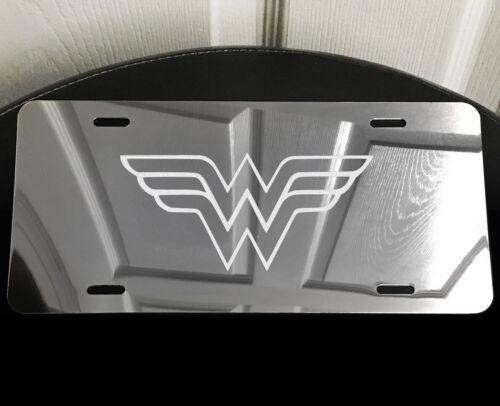 WONDER WOMAN Wonderwoman Laser Etched Aluminum Car Truck Vanity License Plate SW