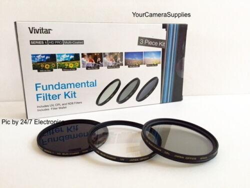 VIVITAR Filter Kit 72mm ND8 UV CPL To PANASONIC AG-DVX100 DVX100B DVC80 DVX102